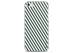 Coque iPhone 5C White & Green geometric forms