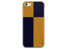 Coque iPhone 5C Yellow & Blue geometric forms