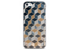 Coque iPhone 5C Blue & Brown Geometric Pattern
