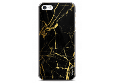 Coque iPhone 5C Gold and Black Marble