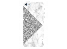 Coque iPhone 5C Silver Glitter and Marble