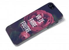 Coque iPhone 5/5S Dites-le avec des fleurs- Va te faire foutre