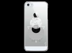 Coque iPhone 5C Silver Cercles Géométriques en marbre