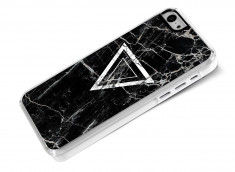 Coque iPhone 5C Black Marble