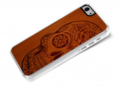 Coque iPhone 5C Skull Wood