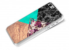 Coque iPhone 5C Floral Marble