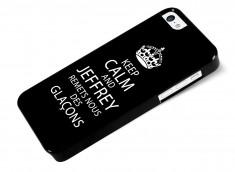 Coque iPhone 5C Keep Calm Jeffrey