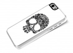Coque iPhone 5C Skull Flower-Blanc