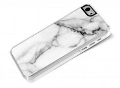 Coque iPhone 5C Effet Marbre- Blanc