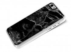 Coque iPhone 5C Effet Marbre- Noir