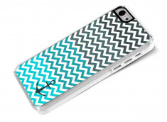 Coque iPhone 5C Blue Chevrons