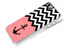 Coque iPhone 5C Pink Anchor