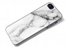 Coque iPhone 5/5S/SE Effet Marbre- Blanc