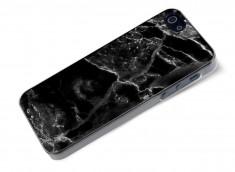 Coque iPhone 5/5S/SE Effet Marbre- Noir