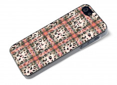 Coque iphone 5/5S/SE Leopard Tartan