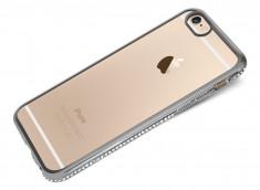 Coque iPhone 6 Plus/6S Plus Silver Flex Strass