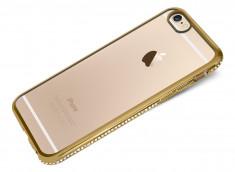 Coque iPhone 6/6S Gold Flex Strass