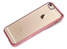 Coque iPhone 6 Plus/6S Plus Rose Gold Flex Strass
