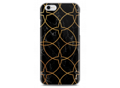 Coque iPhone 6/6S Black & Gold geometric marble