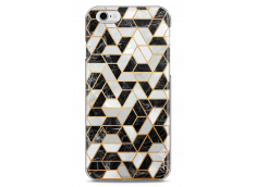 Coque iPhone 6Plus/6SPlus Black & Gray mosaic geometric marble