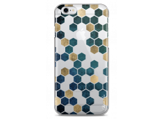 Coque iPhone 6Plus/6SPlus Blue & Gold Cubic