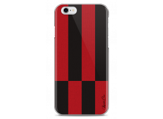 Coque iPhone 6Plus/6SPlus Red & Brown geometric forms
