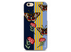 Coque iPhone 6/6S Butterflies and flowers on geometric forms