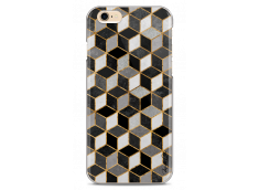 Coque iPhone 6/6S Cubic Black & Gray Geometric Pattern