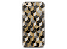 Coque iPhone 6/6S Cubic Gold & Black Geometric Pattern