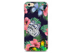 Coque iPhone 6/6S Butterflies and flowers watercolor