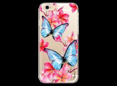 Coque iPhone 6/6S Blue watercolor butterflies