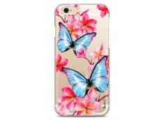 Coque iPhone 6Plus/6SPlus Blue watercolor butterflies