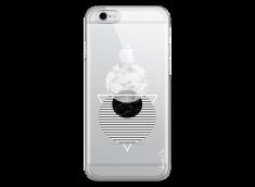 Coque iPhone 6 Plus /6S Plus Silver Cercles Géométriques en marbre