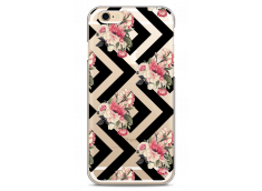 Coque iPhone 6Plus/6SPlus  Black geometric flowers