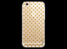 Coque iPhone 6Plus/6SPlus Gold glitter dots