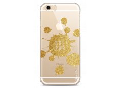 Coque iPhone 6Plus/6SPlus Gold Glitter - Girl Power