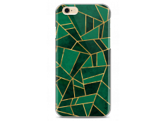 Coque iPhone 6/6S Green & Gold Geometric Pattern
