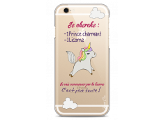 Coque iPhone 6Plus/6SPlus Licorne cherche un prince charmant