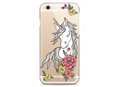 Coque iPhone 6Plus/6SPlus Licorne & Flowers design