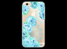 Coque iPhone 6/6S Mandala & Blue Flowers