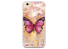 Coque iPhone 6Plus/6SPlus Pink watercolor butterfly