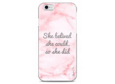 Coque iPhone 6/6S Pink Message Marble