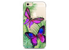 Coque iPhone 6/6S Fuchsia watercolor butterflies
