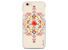Coque iPhone 6/6S Red aztec with flowers
