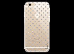 Coque iPhone 6Plus/6SPlus Silver glitter dots