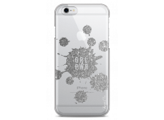 Coque iPhone 6Plus/6SPlus Silver Glitter - Girl Power
