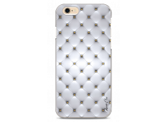 Coque iPhone 6Plus/6SPlus Soft silver & glitter pattern