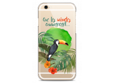Coque iPhone 6/6S Tropical watercolor design Que les miracles commencent