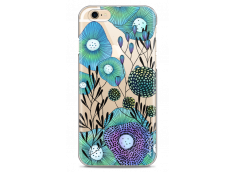 Coque iPhone 6/6S Water blue drawing flowers