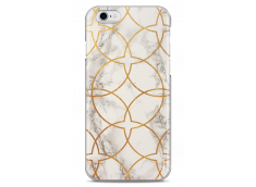 Coque iPhone 6Plus/6SPlus White & Gold geometric marble